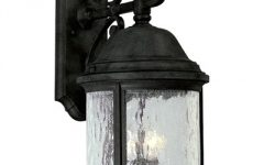 Outdoor Wall Lighting with Seeded Glass