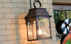 Hanging Outdoor Lights on Brick