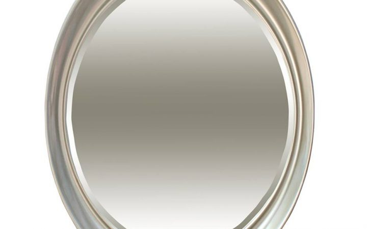 Oval Silver Mirrors