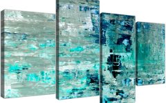Oversized Teal Canvas Wall Art
