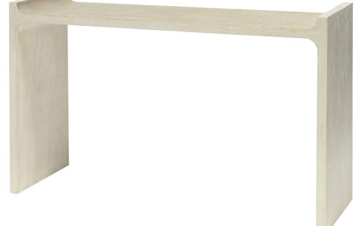 Faux Shagreen Console Tables