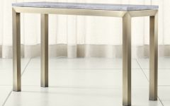 Parsons Concrete Top & Stainless Steel Base 48x16 Console Tables