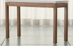 Parsons Black Marble Top & Elm Base 48x16 Console Tables