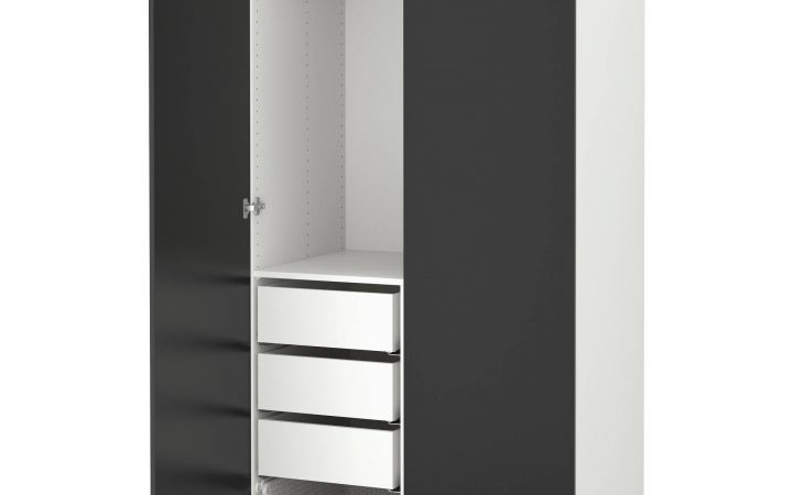Black Wardrobes with Drawers