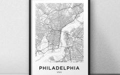 Philadelphia Map Wall Art