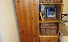 Pine Wardrobe With Drawers and Shelves
