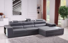 Gray Leather Sectional Sofas