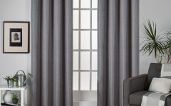 Raw Silk Thermal Insulated Grommet Top Curtain Panel Pairs