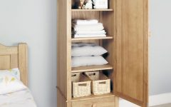 Oak Wardrobe With Drawers and Shelves