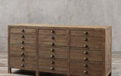 "Westhoff 70"" Wide 6 Drawer Pine Wood Sideboards"