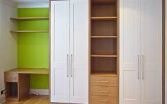 Oak and White Wardrobes