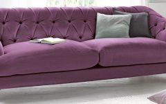 Velvet Purple Sofas