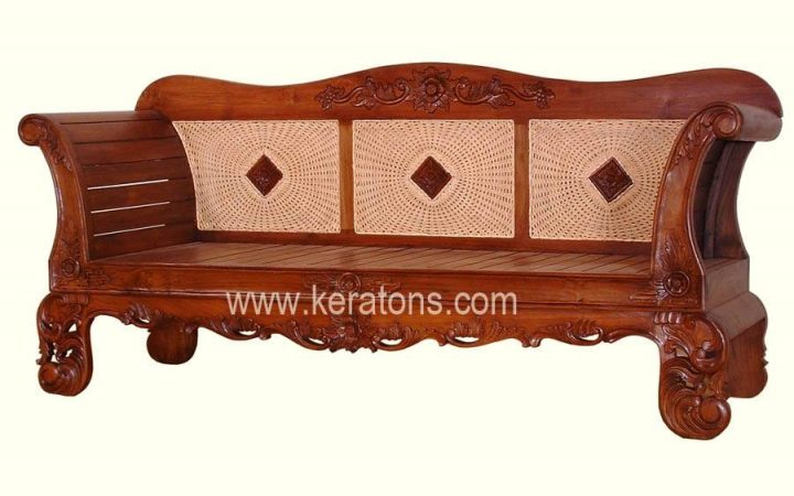 Carved Wood Sofas