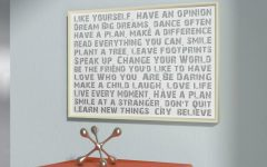 Rectangle Like Yourself Inspirational Typography Wall Plaque