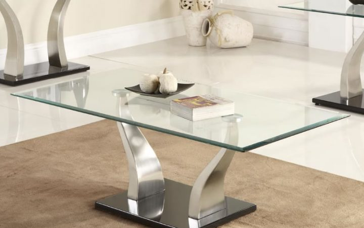 Rectangular Glass Coffee Tables Set