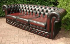 Red Leather Chesterfield Sofas