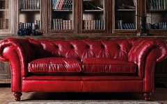 Red Leather Chesterfield Chairs