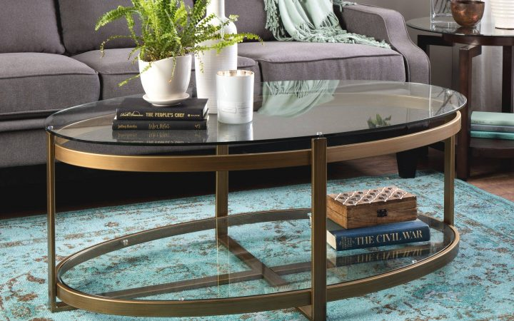 Retro Glitz Glass Coffee Tables