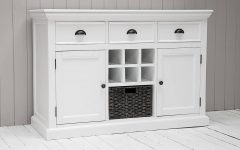 White Sideboards with Wine Rack