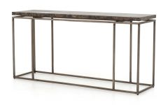 Roman Metal Top Console Tables
