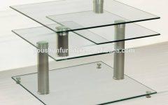 Revolving Glass Coffee Tables