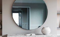 Blue Round Mirrors