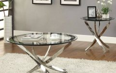 Oval Mirrored Coffee Tables