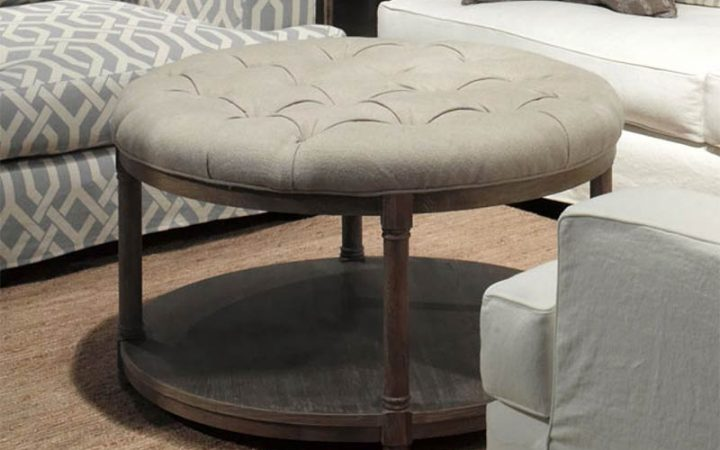 Round Upholstered Coffee Tables