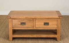 Oak Coffee Tables With Shelf
