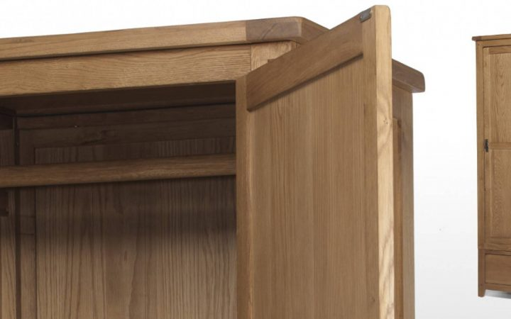 Single Oak Wardrobes with Drawers