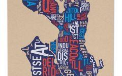 Seattle Map Wall Art
