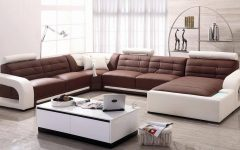 Modern Microfiber Sectional Sofa