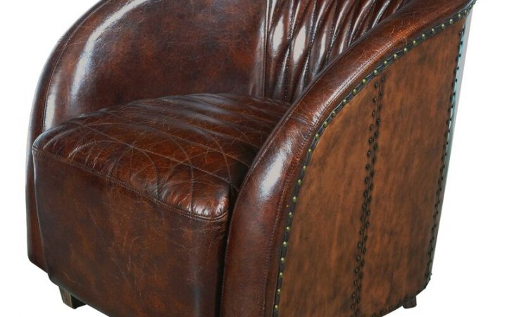 Sheldon Tufted Top Grain Leather Club Chairs