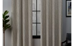 Forest Hill Woven Blackout Grommet Top Curtain Panel Pairs