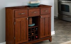 Medium Buffets with Wood Top