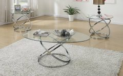 Glass and Silver Coffee Tables