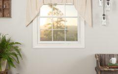 Rod Pocket Cotton Linen Blend Solid Color Flax Kitchen Curtains