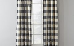 Grandin Curtain Valances in Black