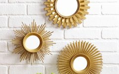 Small Gold Mirrors