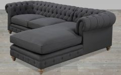 Tufted Sectional Sofa Chaise