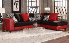 Red Black Sectional Sofa