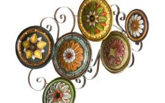 Scattered Metal Italian Plates Wall Decor