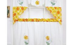 Spring Daisy Tiered Curtain 3-piece Sets