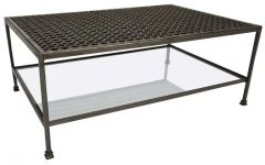 Metal Steel and Glass Coffee Table Furniture
