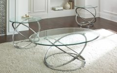 Chrome and Glass Coffee Tables