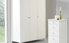 White 3 Door Wardrobes