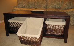 Coffee Tables With Basket Storage Underneath