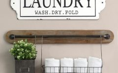 Metal Laundry Room Wall Decor