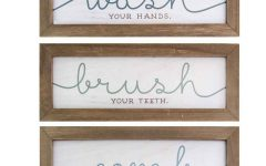 3 Piece Wash, Brush, Comb Wall Decor Sets (set of 3)