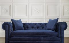 Blue Velvet Tufted Sofas